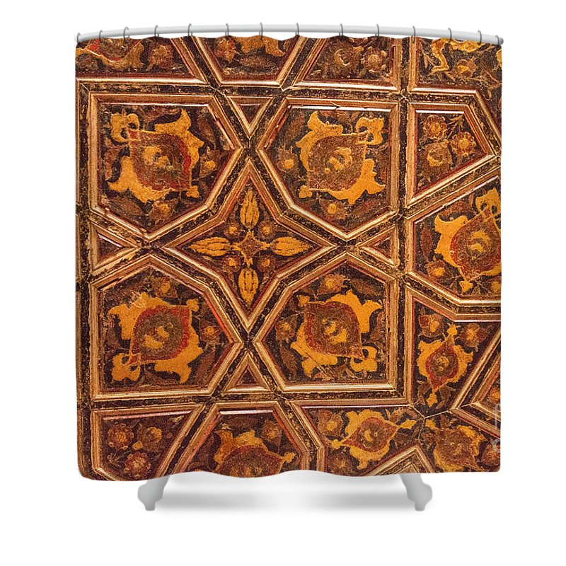 Rustem Pasha Mosque Shower Curtain featuring the photograph Ceiling Design by Bob Phillips