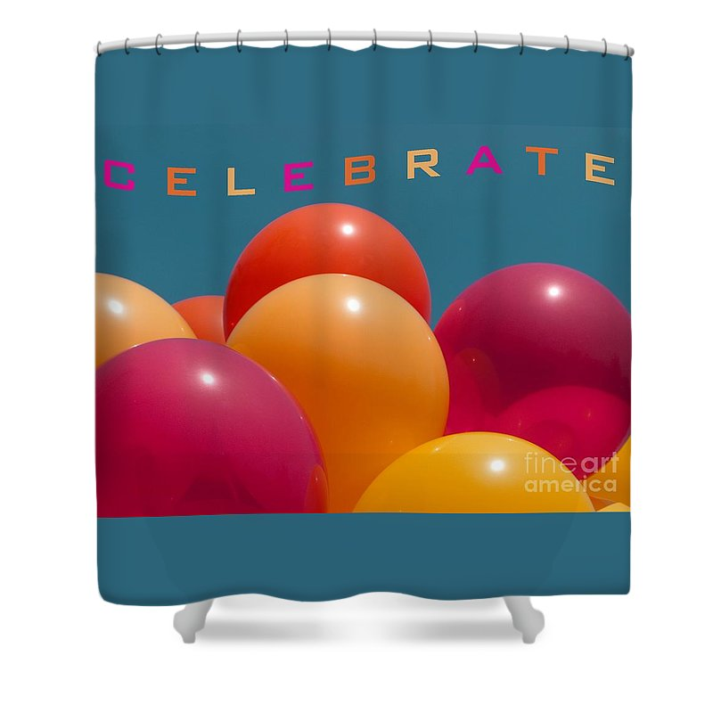 Balloons Shower Curtain featuring the photograph Celebrate by Ann Horn