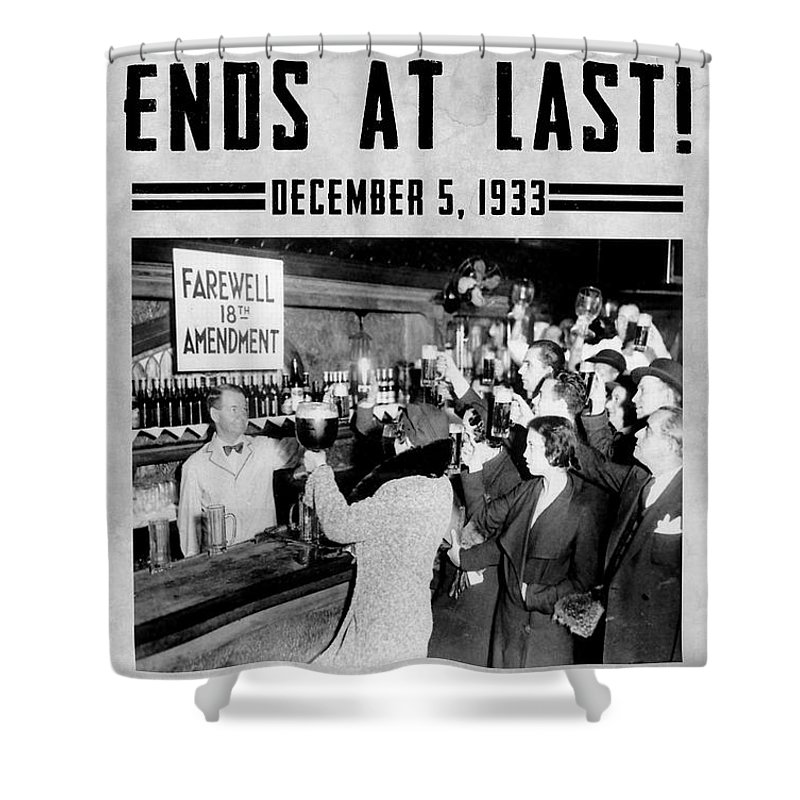 Prohibition Shower Curtain featuring the photograph Celebrate by Jon Neidert