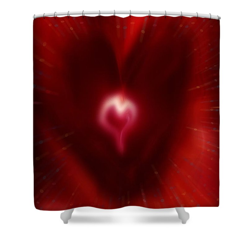 Hearts Shower Curtain featuring the digital art Celebrate Love by Linda Sannuti