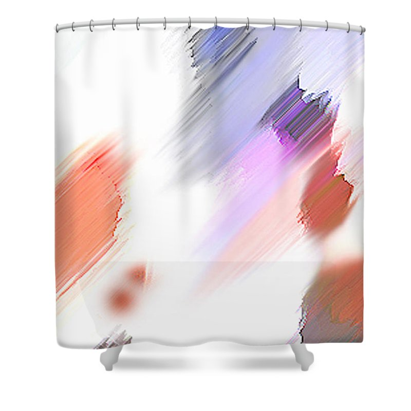 Digital Art Water Color Watercolor Light Color Shower Curtain featuring the painting Celebration by Anil Nene