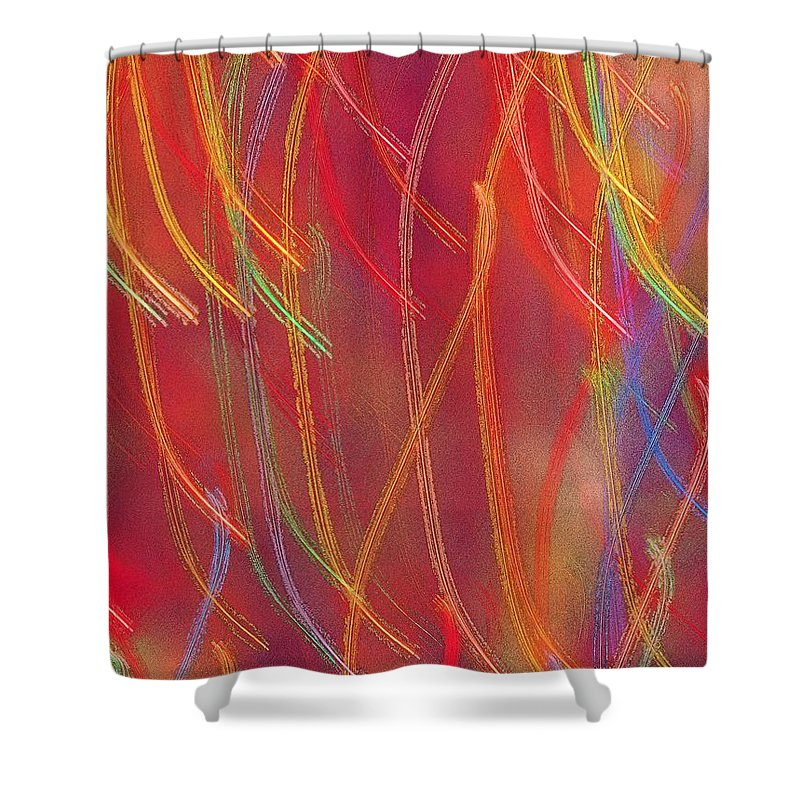 Abstract Shower Curtain featuring the photograph Celebration by Gaby Swanson
