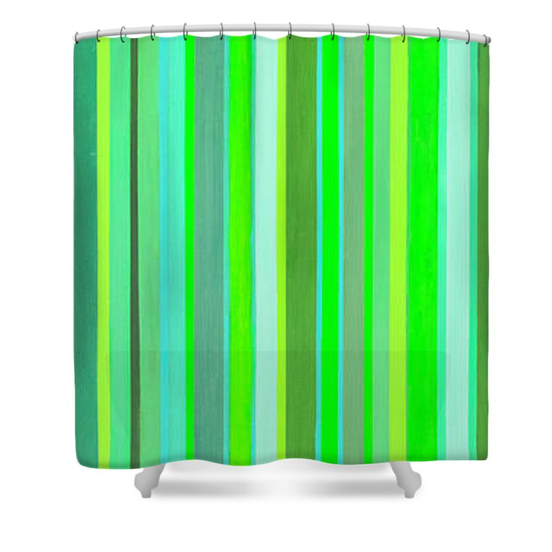 Celestial Big Wood Shower Curtain featuring the painting Celestial Big Wood by Adamantini Feng shui