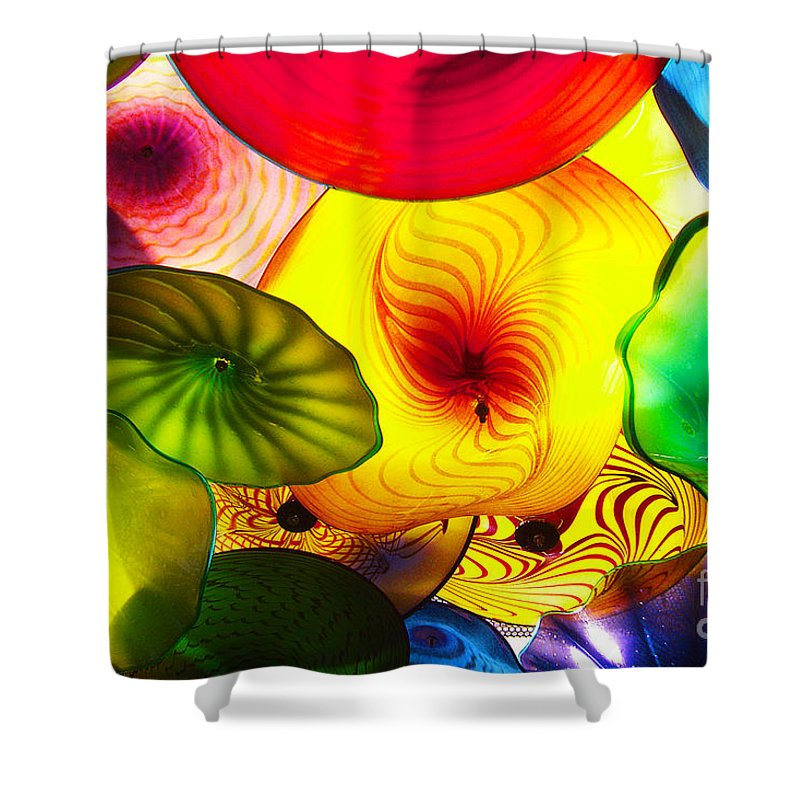 Glass Shower Curtain featuring the photograph Celestial Glass 2 by Xueling Zou