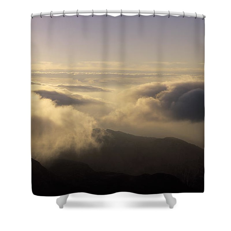Alps Shower Curtain featuring the photograph Celestial Wanderers by Konstantin Dikovsky