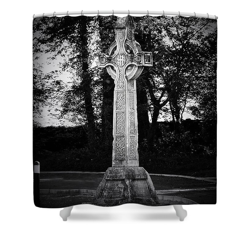 Irish Shower Curtain featuring the photograph Celtic Cross In Killarney Ireland by Teresa Mucha