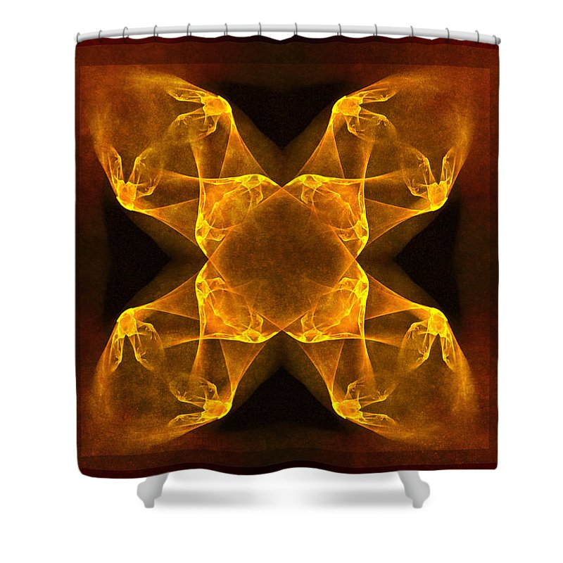 Gothic Shower Curtain featuring the digital art Celtic Gothica by Georgiana Romanovna