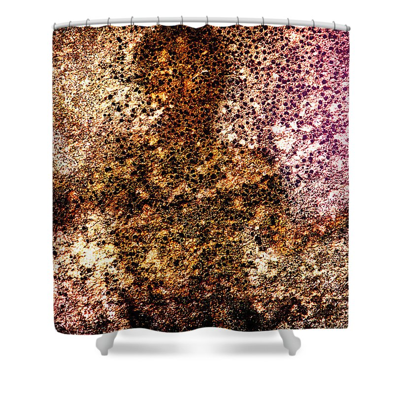 Abstract Shower Curtain featuring the photograph Cement Soul by Bob Orsillo