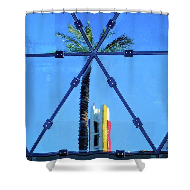 Palm Shower Curtain featuring the photograph Center Of The Palm by Jost Houk