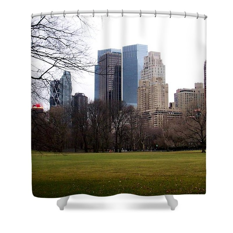 Central Park Shower Curtain featuring the photograph Central Park by Anita Burgermeister