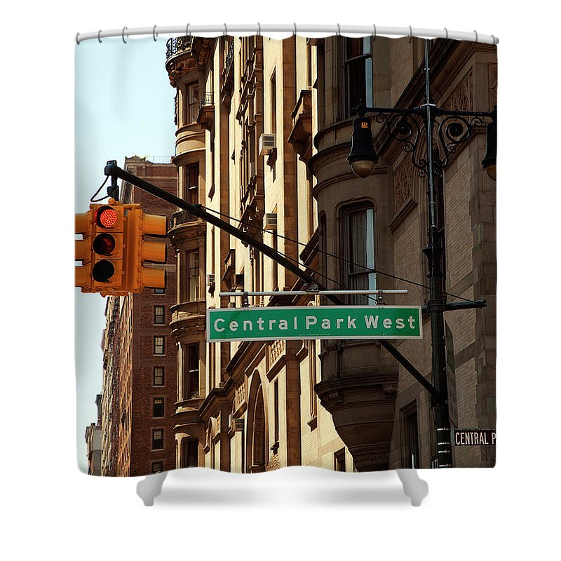 Central Park West Shower Curtain featuring the photograph Central Park West by Madeline Ellis