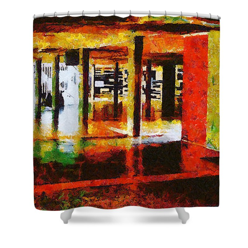 University Shower Curtain featuring the photograph Central University Of Venezuela by Galeria Trompiz