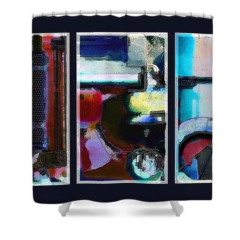Abstract Shower Curtain featuring the digital art Centrifuge by Steve Karol