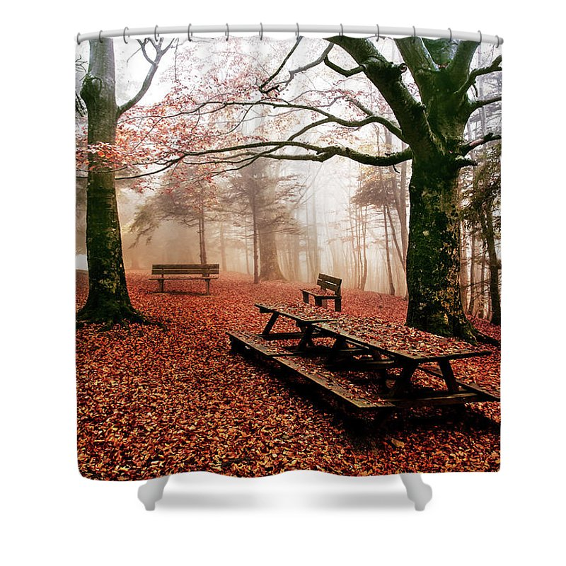 Landscape Shower Curtain featuring the photograph Ceppo Italy by Marco Torrieri