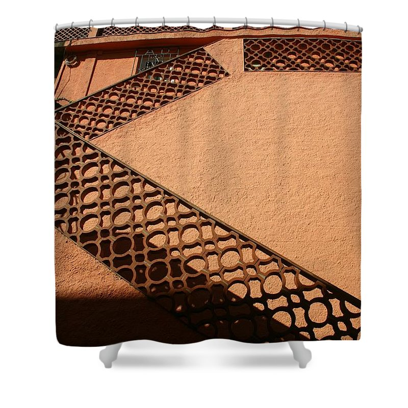 Stairs Shower Curtain featuring the photograph Cerbre France Stairs by Minaz Jantz