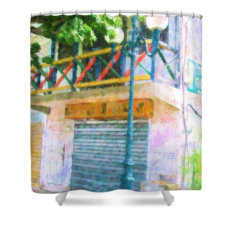 St. Martin Shower Curtain featuring the photograph Cest La Vie by Debbi Granruth