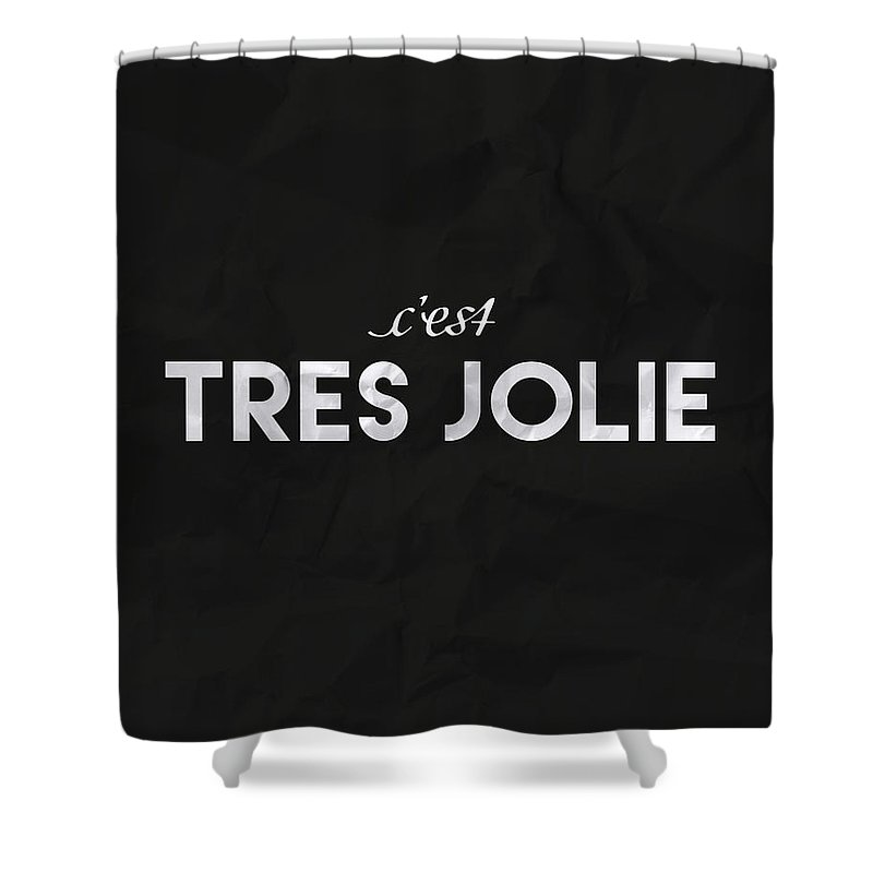 Written Language Digital Art Shower Curtains
