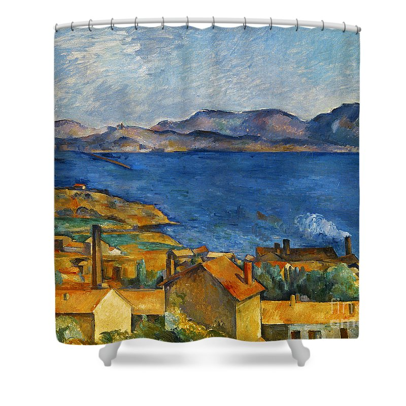 1890 Shower Curtain featuring the photograph Cezanne Marseilles 1886-90 by Granger