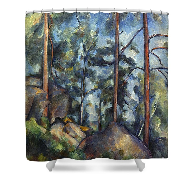 1899 Shower Curtain featuring the photograph Cezanne: Pines, 1896-99 by Granger