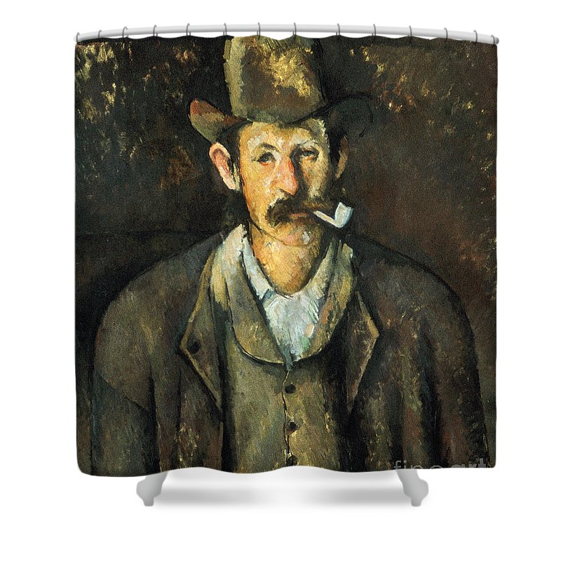 1892 Shower Curtain featuring the photograph Cezanne: Pipe Smoker, C1892 by Granger