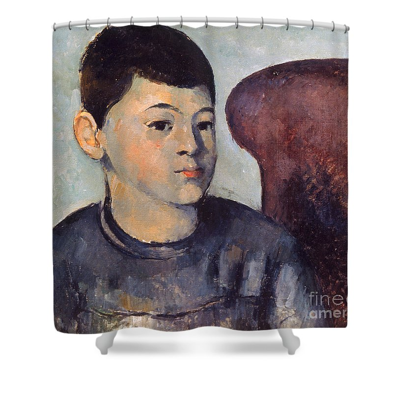 19th Century Shower Curtain featuring the photograph Cezanne: Portrait Of Son by Granger