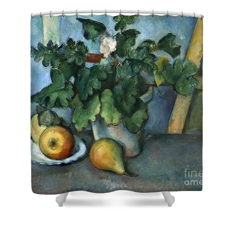 1890 Shower Curtain featuring the photograph Cezanne: Still Life, C1888 by Granger