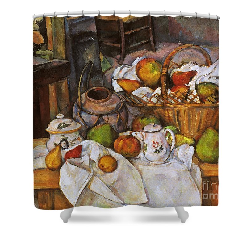 1890 Shower Curtain featuring the photograph Cezanne: Table, 1888-90 by Granger