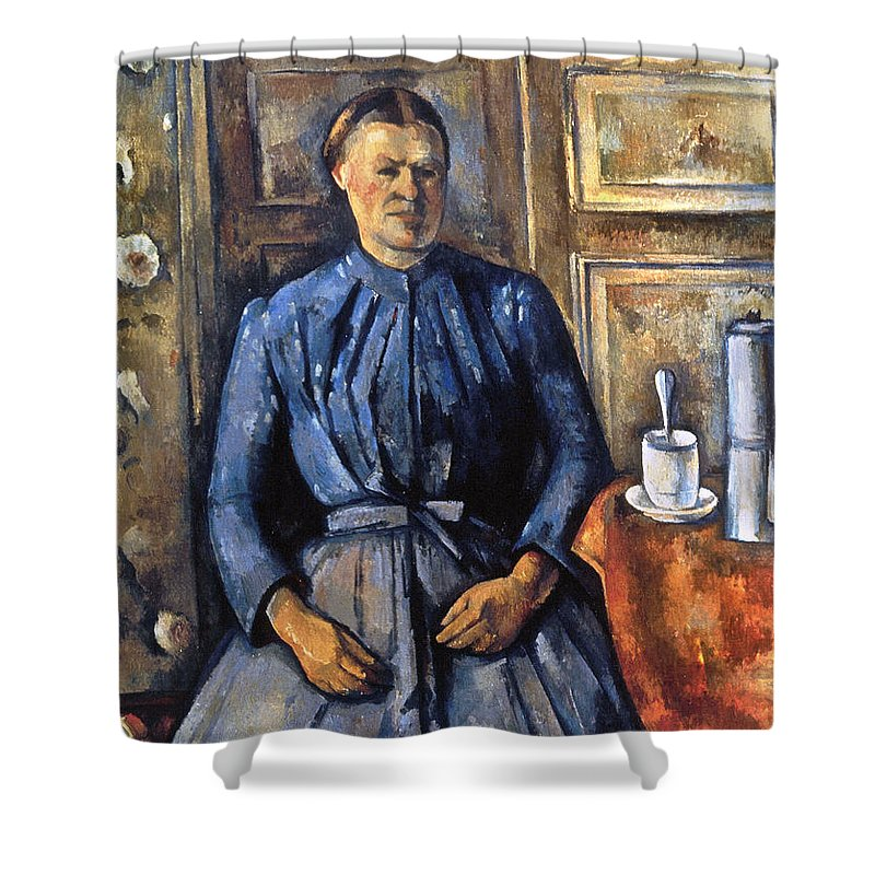 1895 Shower Curtain featuring the photograph Cezanne: Woman, 1890-95 by Granger