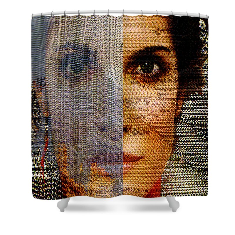 Mysterious Shower Curtain featuring the digital art Chained Vixen by Seth Weaver