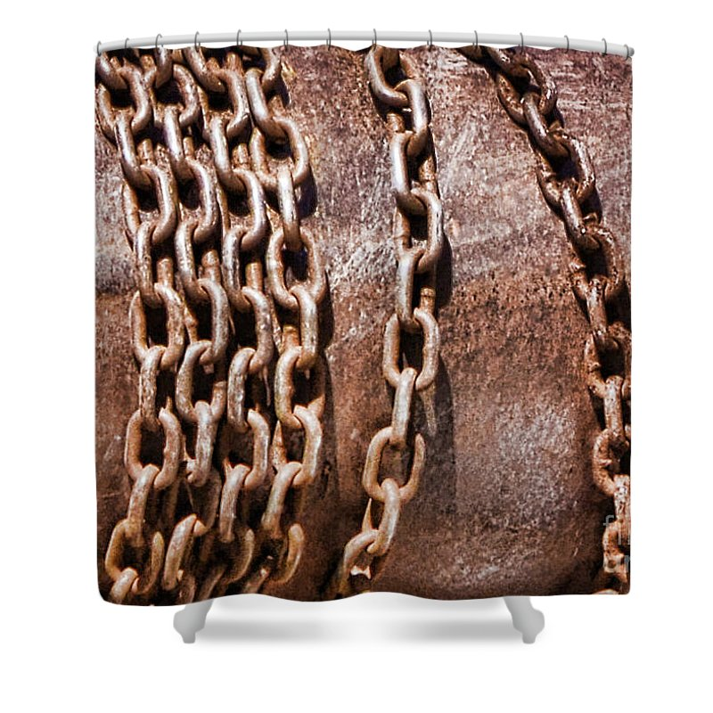 Parliament Shower Curtain featuring the photograph Chains by Traci Cottingham