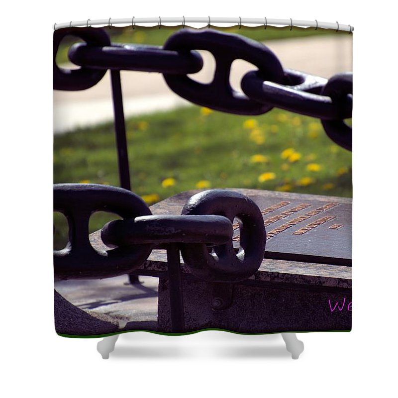 Chain Shower Curtain featuring the photograph Chains by Wendy Fox