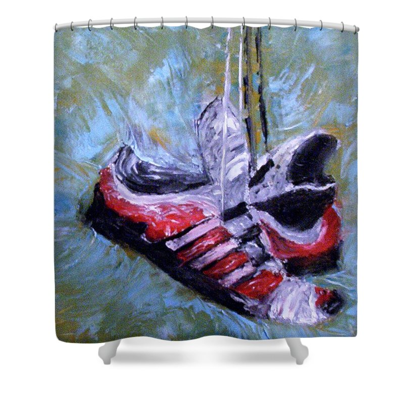 Still Life Shower Curtain featuring the painting Champion by Stephen King