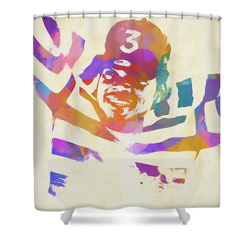 Chance The Rapper Shower Curtain Featuring Painting By Dan Sproul