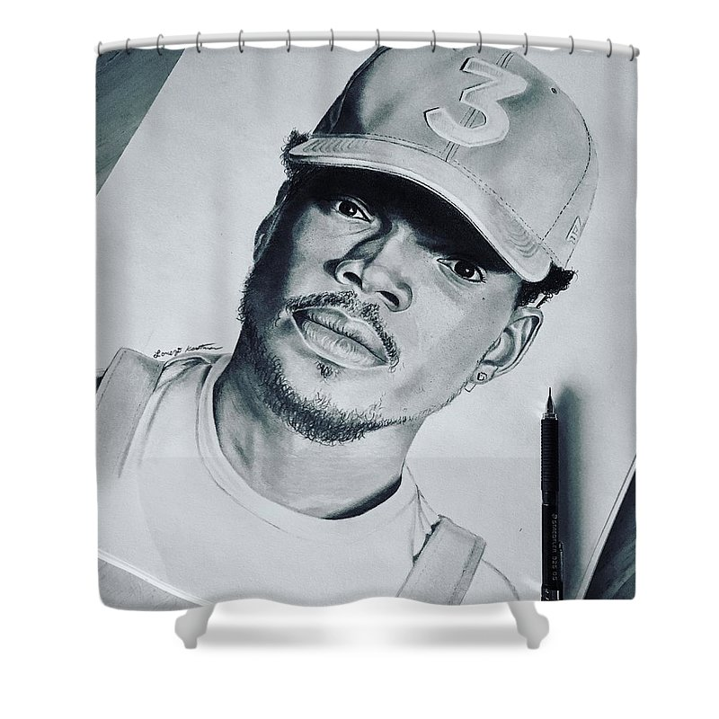 Chance The Rapper Portrait Shower Curtain For Sale By Lorenzo Kastman