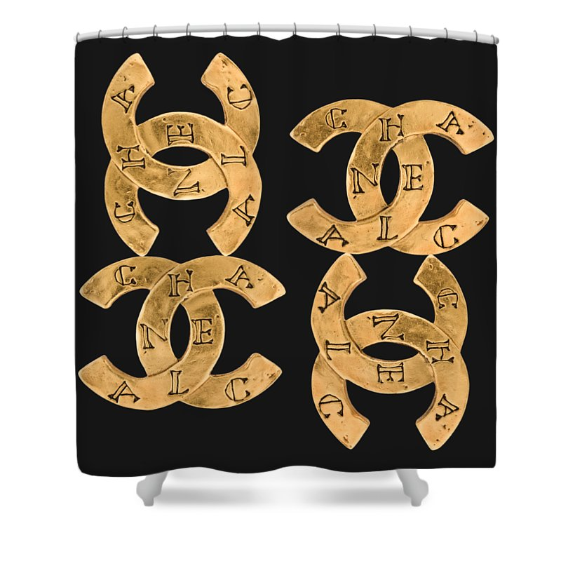 Chanel Shower Curtain Featuring The Painting Jewelry 18 By Nikita