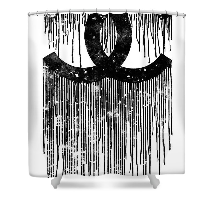Chanel Logo Black White 1 Shower Curtain For Sale By Del Art