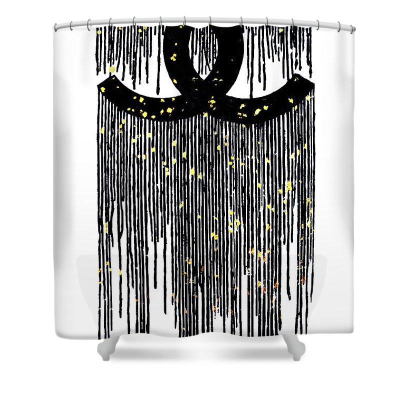 Chanel Logo Dripping Shower Curtain For Sale By Del Art