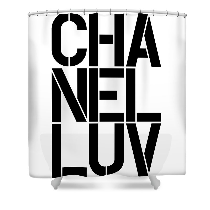 Chanel Shower Curtain featuring the painting Chanel Luv-1 by Nikita