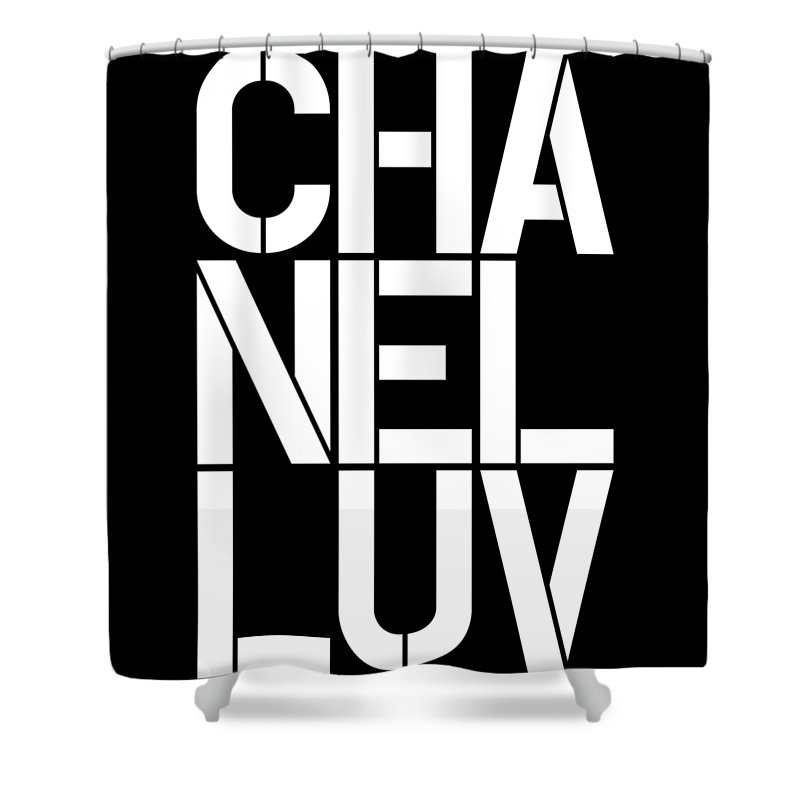 Chanel Shower Curtain Featuring The Painting Luv 2 By Nikita