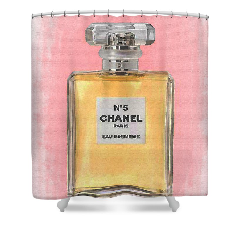 Chanel No 5 Eau De Parfum Shower Curtain For Sale By David Stasiak