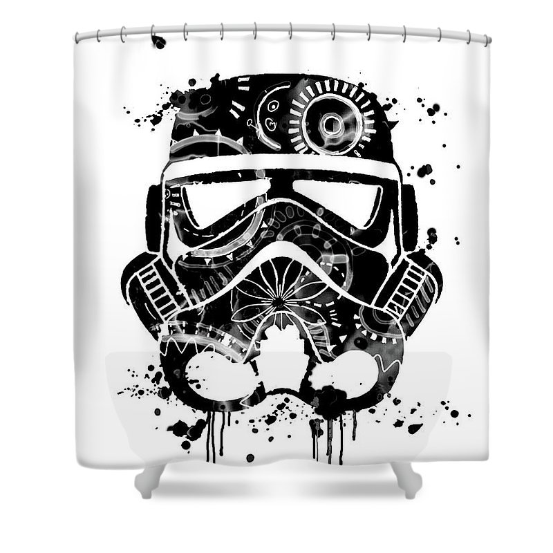 Star Wars Poster Shower Curtain Featuring The Painting Print