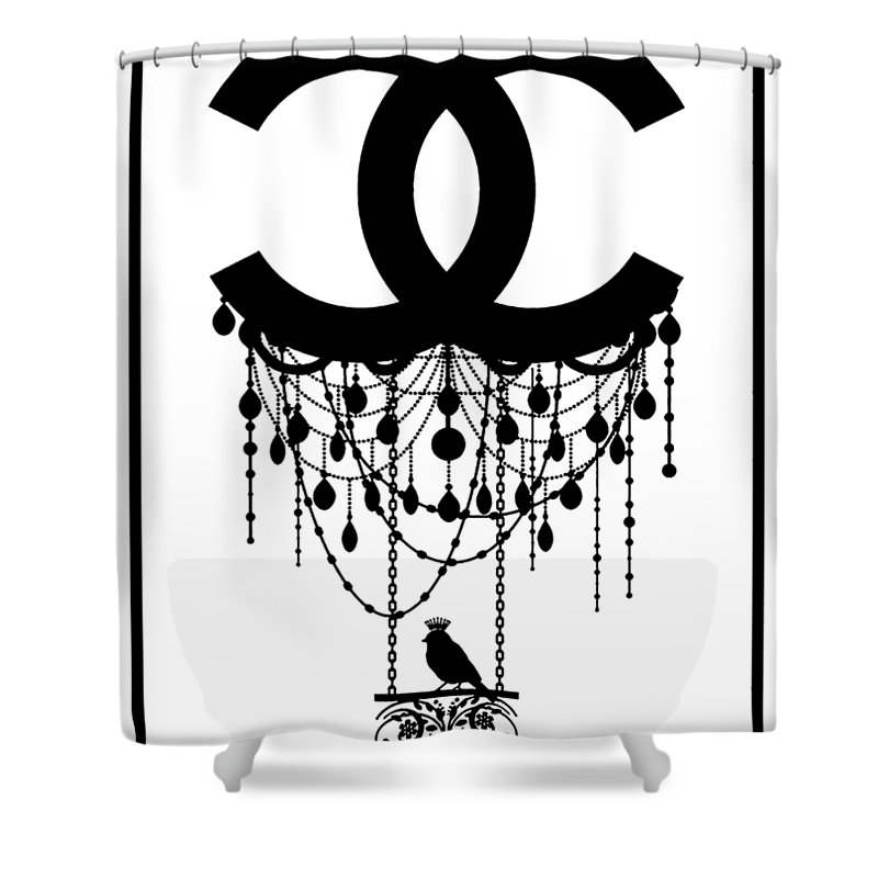 Chanel Sketch Shower Curtain For Sale By Cindy Ell