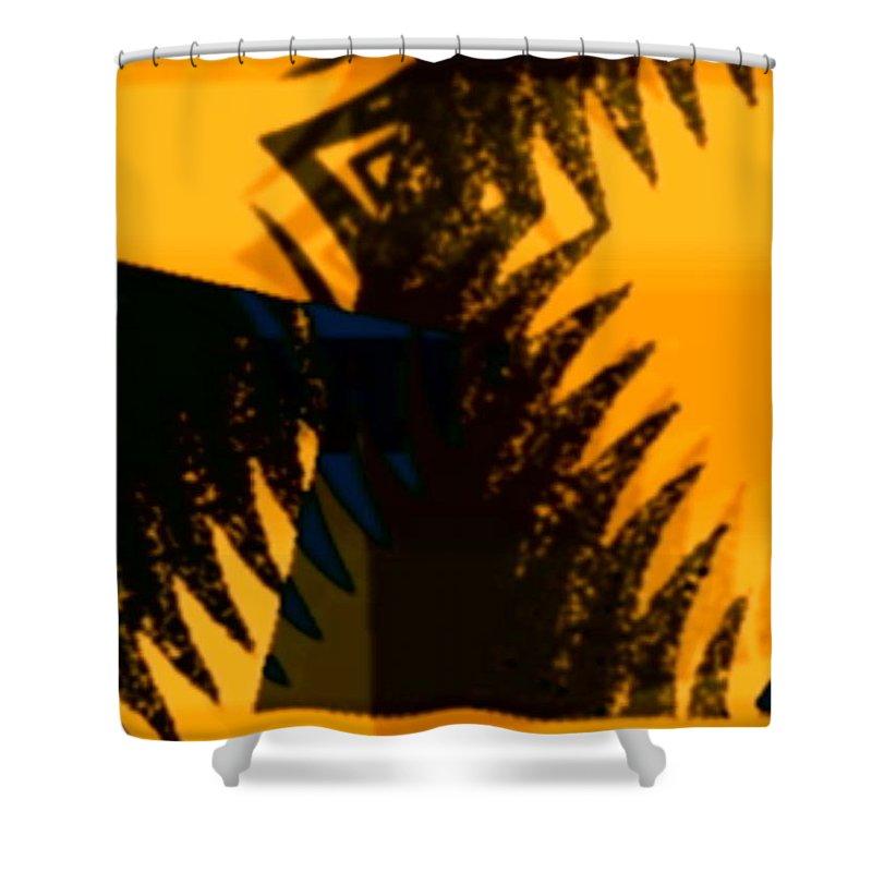 Art Digital Art Shower Curtain featuring the digital art Change - Leaf3 by Alex Porter