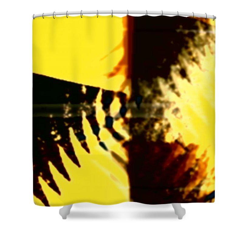 Art Digital Art Shower Curtain featuring the digital art Change - Leaf5 by Alex Porter