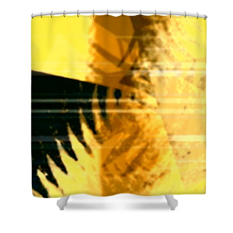 Art Digital Art Shower Curtain featuring the digital art Change - Leaf8 by Alex Porter