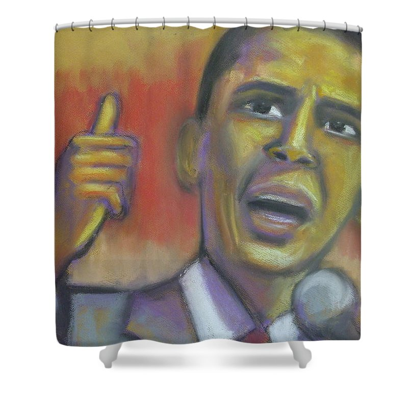 African American Shower Curtain featuring the drawing Change Is Coming by Jan Gilmore