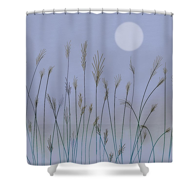 Landscape Shower Curtain featuring the digital art Changing Season by Dennis Casto