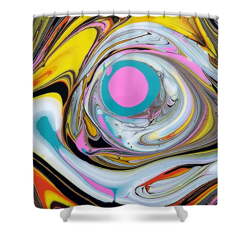 Abstract Shower Curtain featuring the painting Chaos 2 by Rosa Lopez