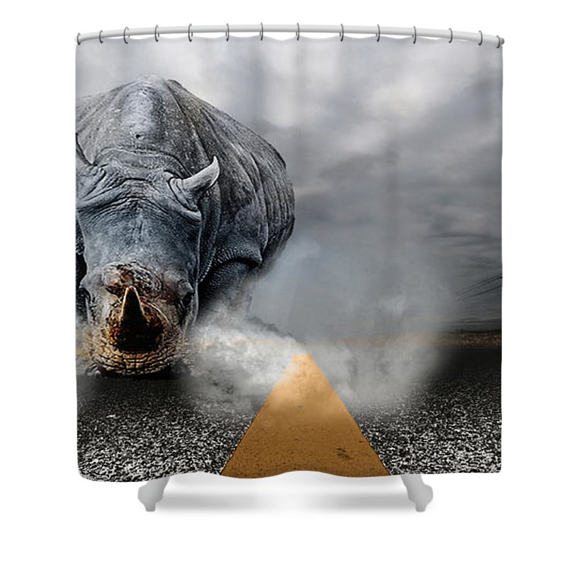 Chaos Artwork Photoshop Shower Curtain featuring the digital art Chaos by Alex Grichenko