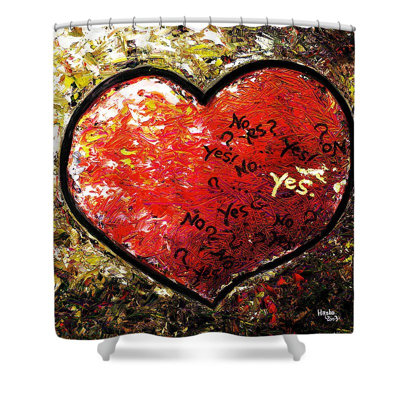 Pop Shower Curtain featuring the painting Chaos In Heart by Hiroko Sakai